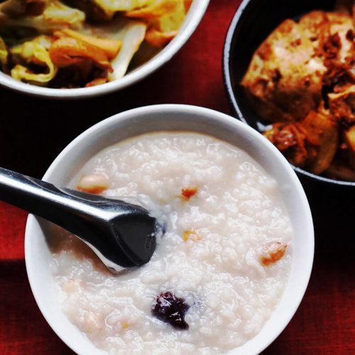 Peanut Congee With Dates